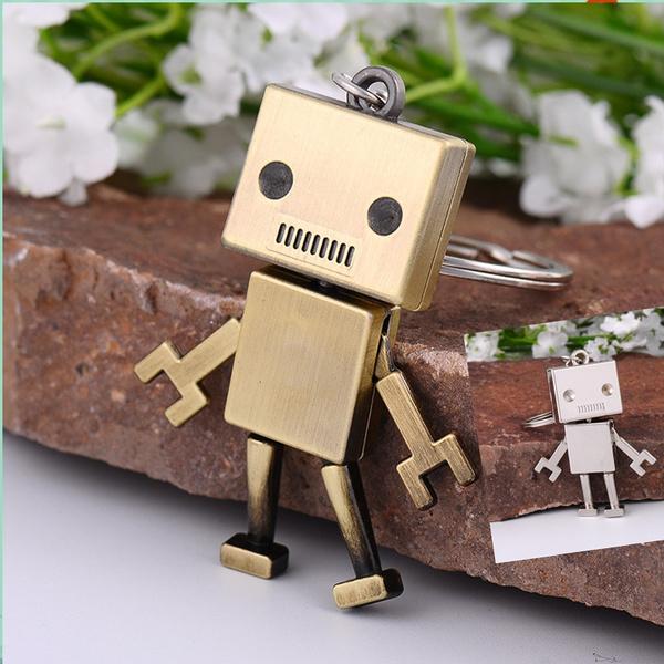 Antique, metalrobot, Fashion, Key Chain