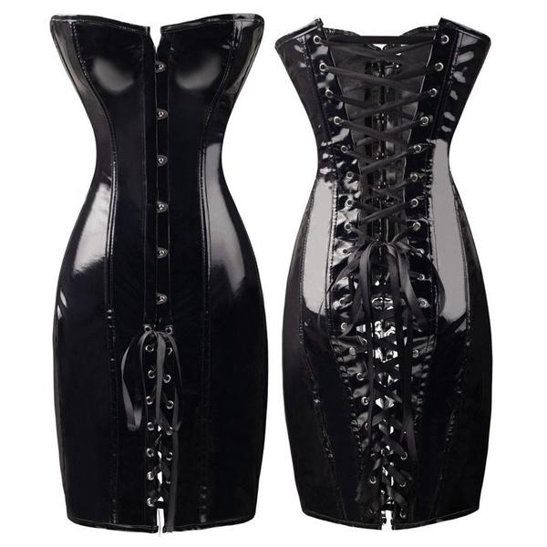 Club Dress, womens dresses, Corset, leather