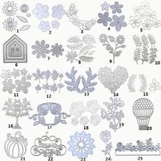 stencil, Jewelry, Metal, flowercuttingdie