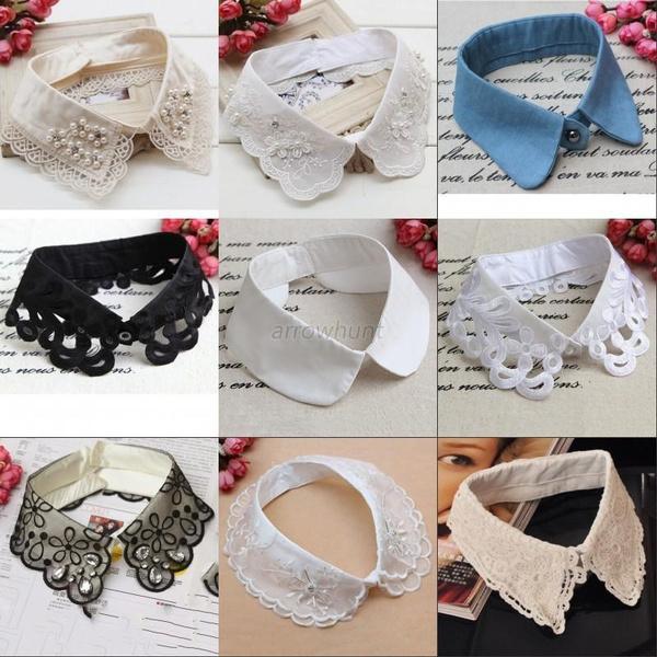 Fashion, Tops & Blouses, Jewelry, detachablecollar