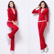 Fashion, velvet, Waist, women track suit