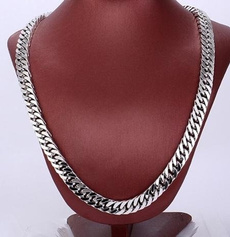White Gold, Chain Necklace, hip hop jewelry, Jewelry