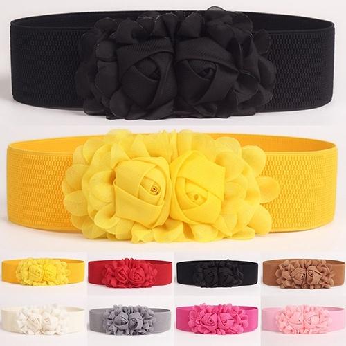 Women, wide belt, Flowers, Waist