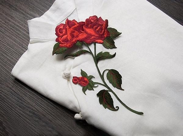 rosepatch, Flowers, irononapplique, Iron