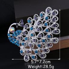Beautiful, peacock, 18k gold, Jewelry