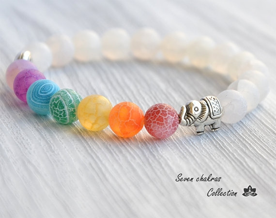 Beaded Bracelets, Yoga, 7chakra, yogabracelet