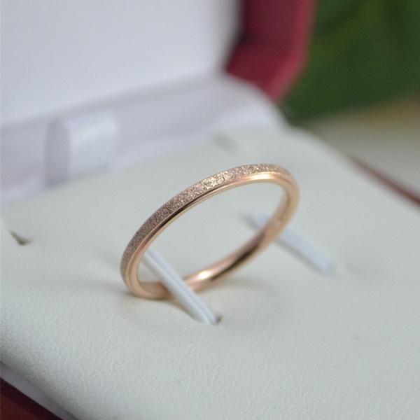 Steel, pinkyring, stackablering, wedding ring