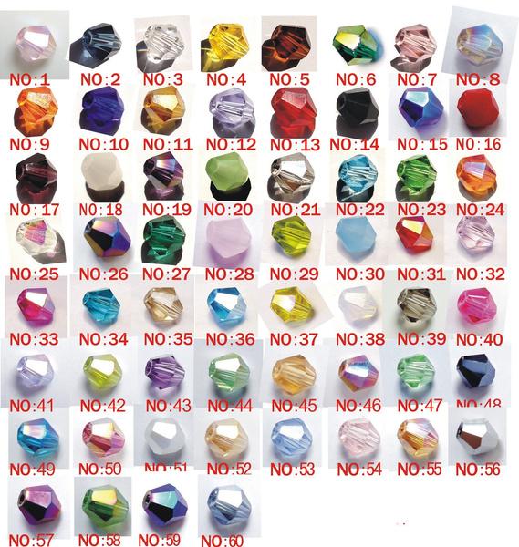 4mmbiconebead, 4mmbead, Glass, mixedcolour4mm