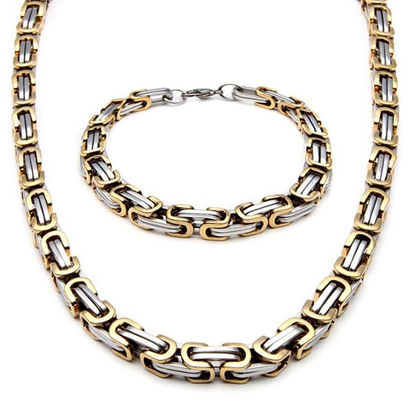 Steel, stainlesssteelmensjewelry, fashionstylenecklace, Jewelry