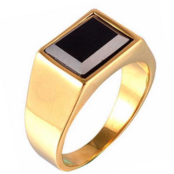Men Jewelry, Steel, polished, goldplated