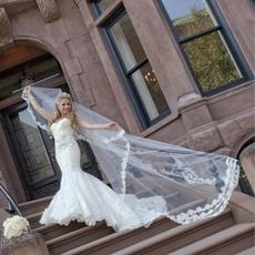 Ivory, Combs, longbridalveil, bridalweddingveil