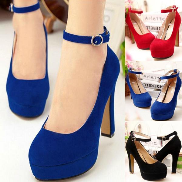Womens Shoes, round toe, Pump, High Heel