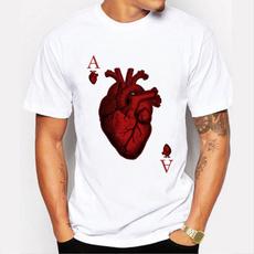 Heart, Fashion, Necks, Printed Tee