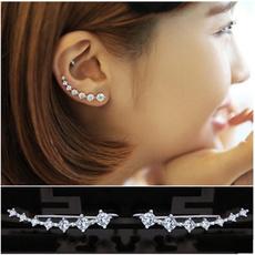 Sterling, Silver Jewelry, Fashion, hookstudearring