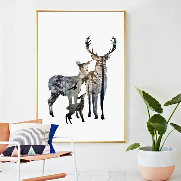 art print, elk, Decor, Wall Art
