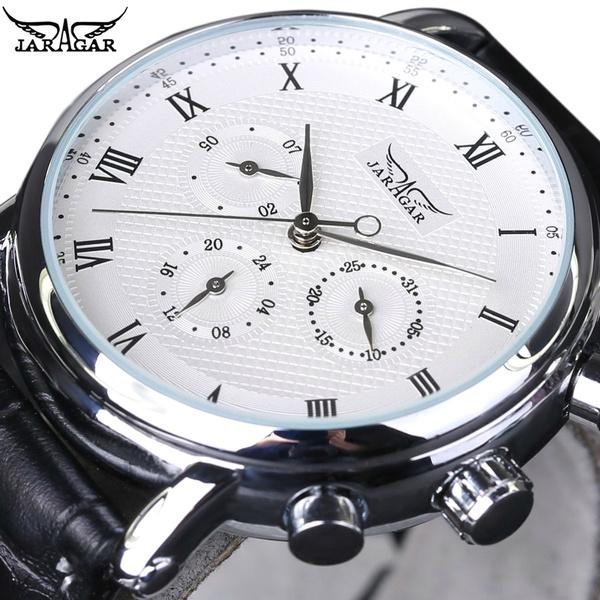 Chronograph, watchformen, leather strap, citizen