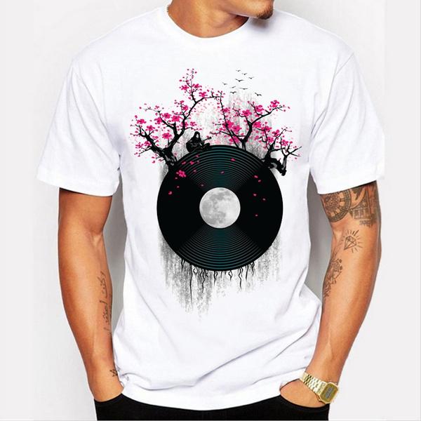 Summer, Printed T Shirts, Necks, onecktshirt