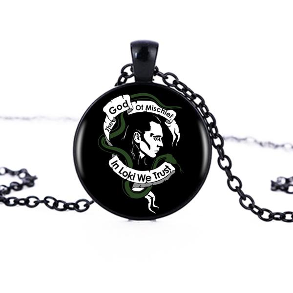 Antique, glassdomenecklace, Chain Necklace, cabochon