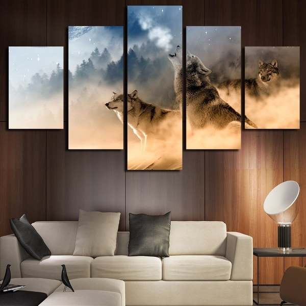 Decor, Wall Art, canvaspainting, wolfpainting