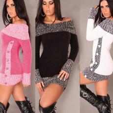sexysweaterdresse, Women Sweater, knittedsweaterdre, Sleeve