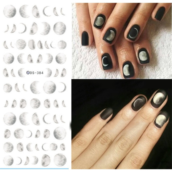 moonlight, nail decals, art, Beauty