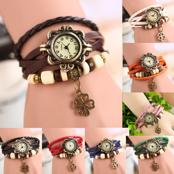 Clover, Fashion, Jewelry, leather