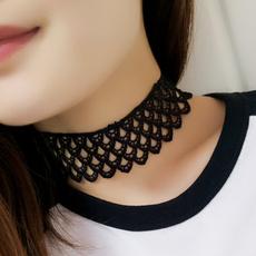 Goth, Fashion, widelacenecklace, Lace