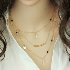 goldplated, Chain Necklace, Fashion, Jewelry