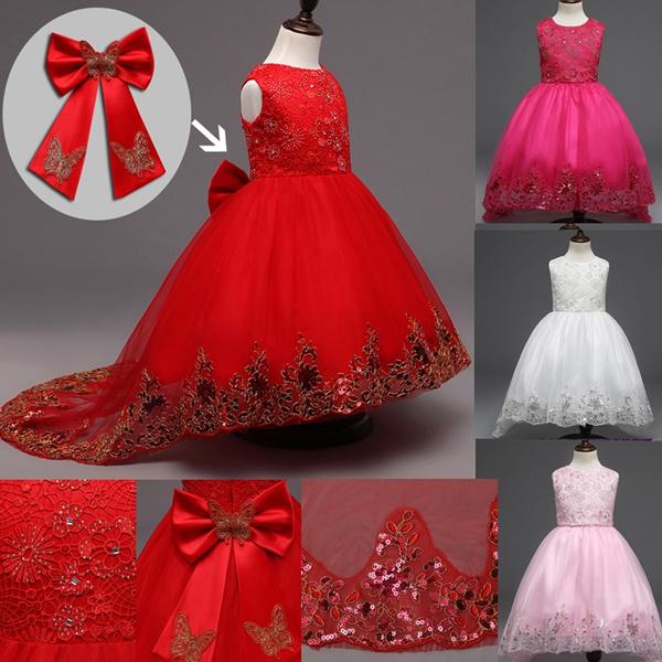 butterfly, bowknot, girls dress, kids clothes
