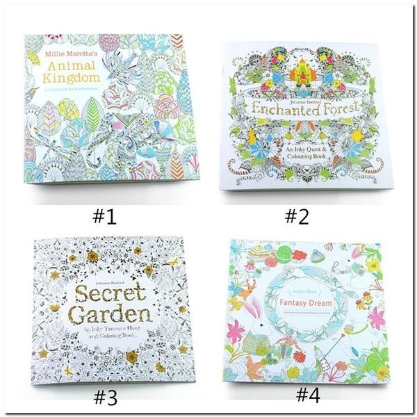 pencil, coloring, Garden, drawingbook
