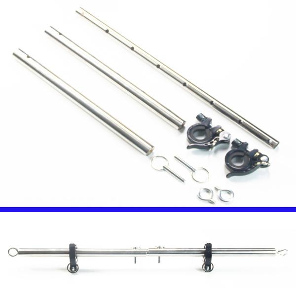Ankle, adjustablelength, metalspreaderbar, bandagerestraint