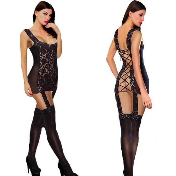 Mini, nightwear, sexy lingerie, Stockings