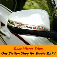 Toyota, carrearviewmirrorraincover, chrome, rav4