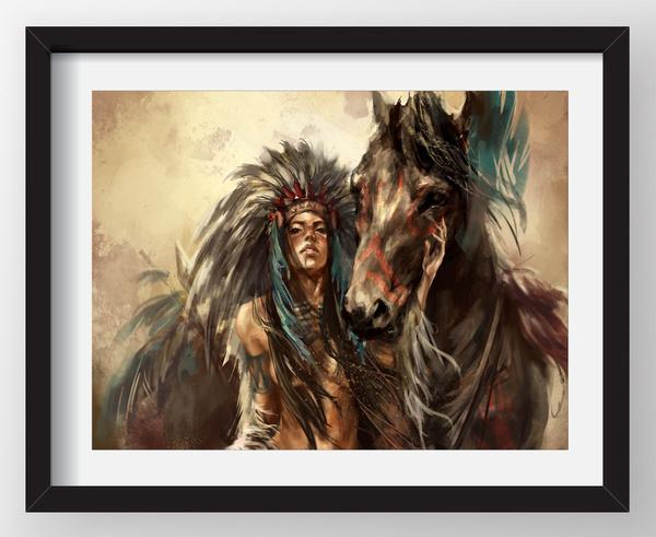 horse, art, Home Decor, decoration oil painting