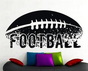 Modern, soccerwallart, kidswalldecal, Home & Living