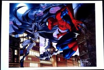 htf, art, Spiderman, Batman