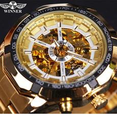 forsining skeleton watch