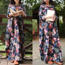 Summer, Plus Size, Floral, Shirt