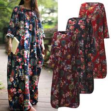 Plus Size, Floral print, Shirt, Long Sleeve