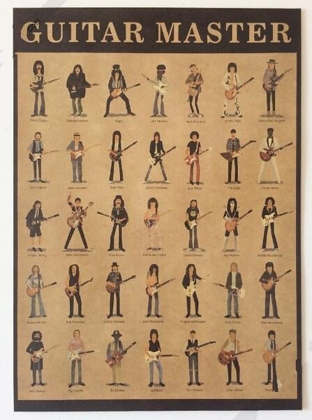 kraftpaperposter, guitarpainting, Posters, Stickers