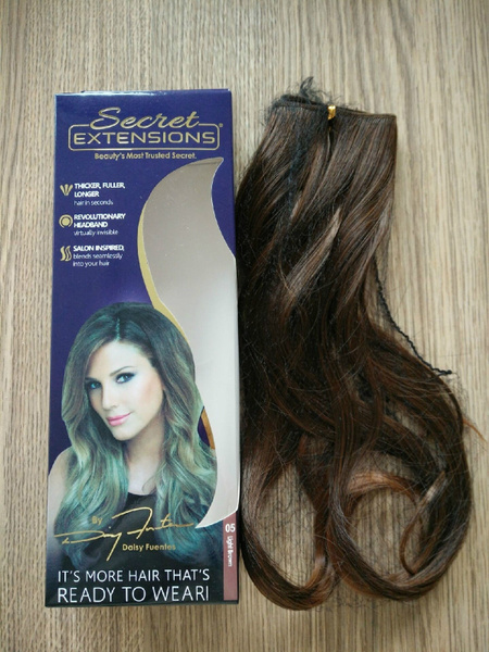 Secret Hair Extensions Daisy Fuentes Women Fashion Beauty Makeup Medium Brown Hair As Seen On Tv Wish I refer to her as my hair magician to my friends as she always puts so much time and care into making sure you absolutely love the job she's done. wish