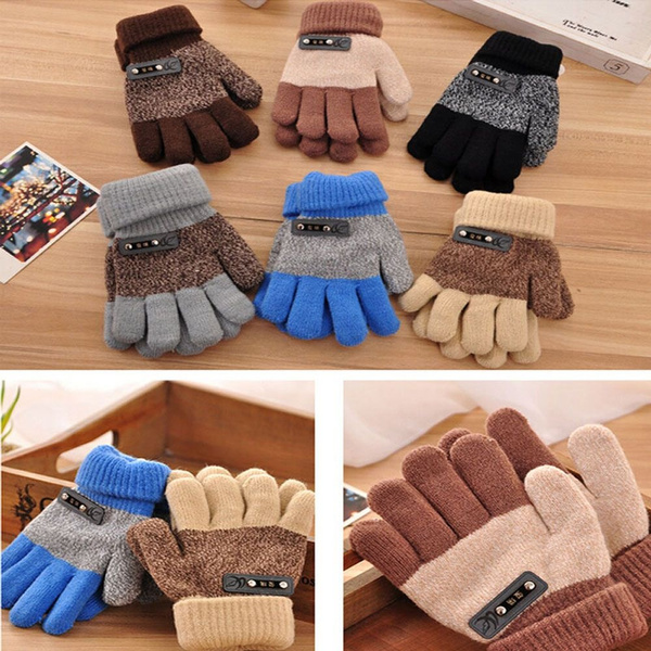 Boys' Accessories, Winter, knittedglove, Gloves
