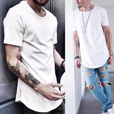 K-Pop, Summer, Fashion, Long T-Shirt