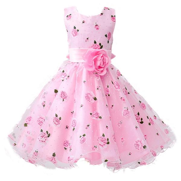 cute, girls dress, Flowers, Princess