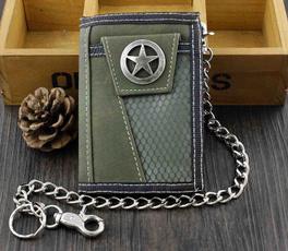 Chain Wallets, Star, giftforboy, coinspurseboy