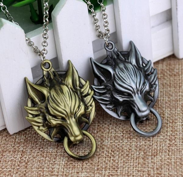 cloudwolfpendantnecklace, Jewelry, Gifts, finalfantasycloudwolf