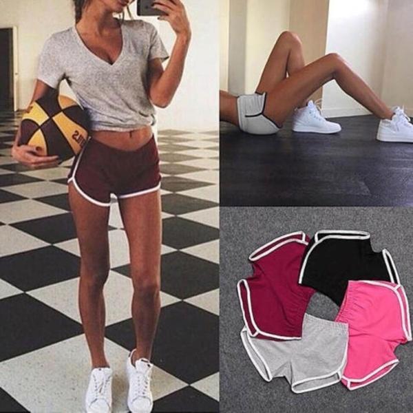 pink, Summer, Shorts, Yoga