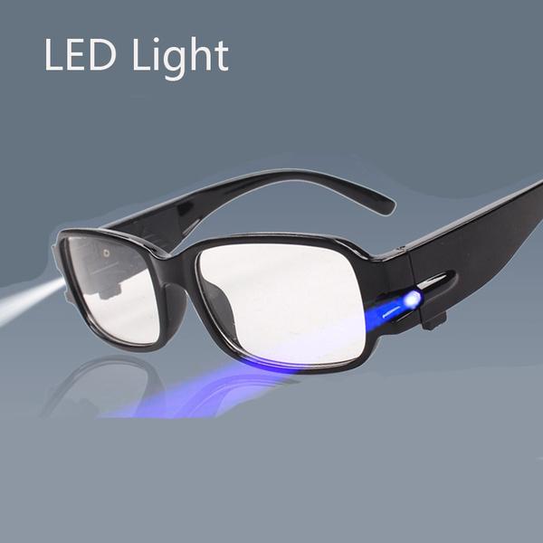 reading eyewear, lights, ledreadingglasse, elderglasse