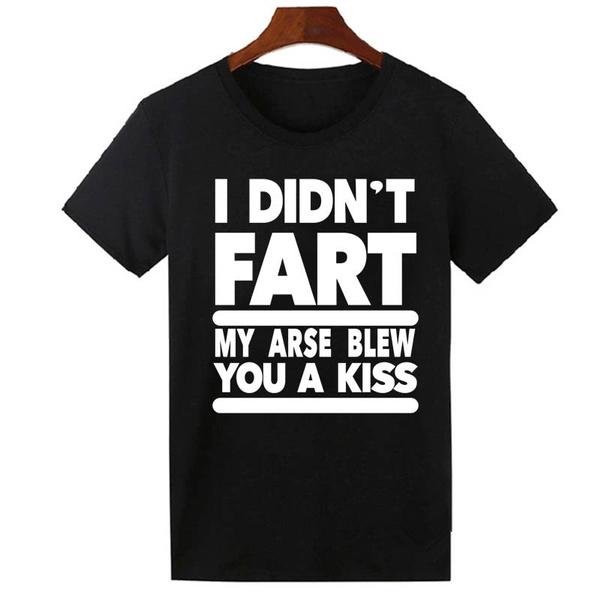 Funny, Fashion, Cotton T Shirt, letter print