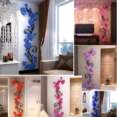 3dflowerwallsticker, Fashion, Home & Living, Rose
